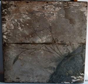 Blazoen Oud-Vossemeer achterzijde