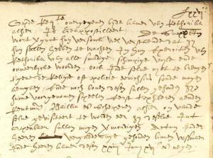 Oud Vossemeer resolutie 1609