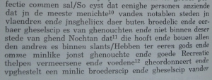Fragment transcriptie door Van Elslander van het Gentse statuut uit 1448
